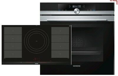 Siemens EQ2Z044 Set Pyrolyse Oven HB674GBS1 EEK:A+ and Cooktop EX975LVC1E