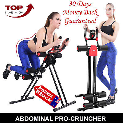 Ab Glider Roller Slider Abdominal Abs Cruncher Exercise Machine Fitness Trainer
