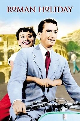 "1953 Roman Holiday Audrey Hepburn Movie POSTER LMJR-02 36x24"" Art Decor"