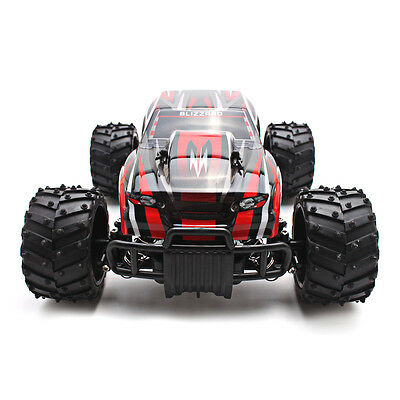 Red Electric RC Car 1:16 Scale Model 2WD Off Road High Speed Remote Control Car