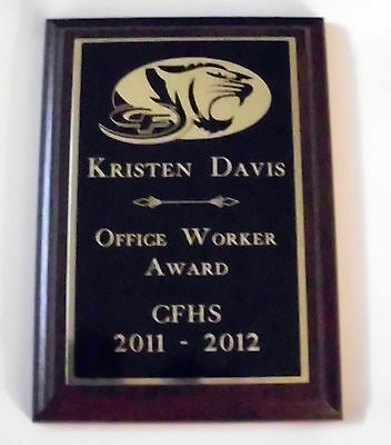 CUSTOM PERSONALIZED ENGRAVED AWARD 5 X 7 WALL PLAQUE PLAQUES LOGO TEXT 5x7