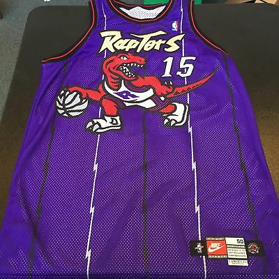 1998-99 Vince Carter Rookie Game Used Toronto Raptors Jersey With COA