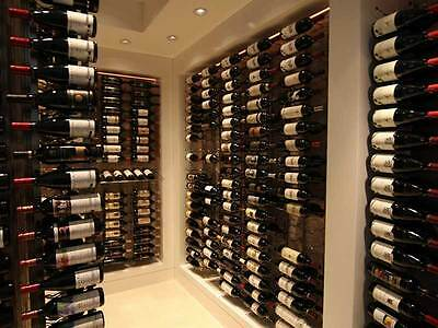 "Metal ""Strip"" Wine Storage Rack - 9 bottles per wall rack"