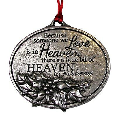 Loved One In Heaven Bereavement Memorial Rememberance Christmas Tree Ornament