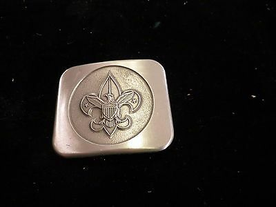 Boy Scout Insignia Belt Buckle Brushed Pewter Emblem Bastien Brothers