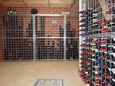 216 Bottle Galvanised Steel Metal Wine Storage Rack