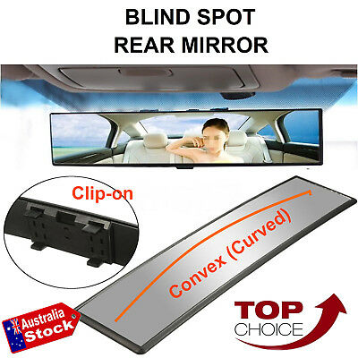 Universal 300Mm Convex Curved Interior Clip-On Car Rearview Blind Spot Mirror
