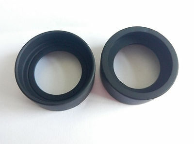 1 Pair 34-37mm High Quality Rubber Stero Microscope Eyepiece Cups Eye Guards