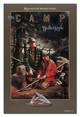 1994 Remington The Camp Bullet Knife Poster - In Factory Tube - Free Shipping