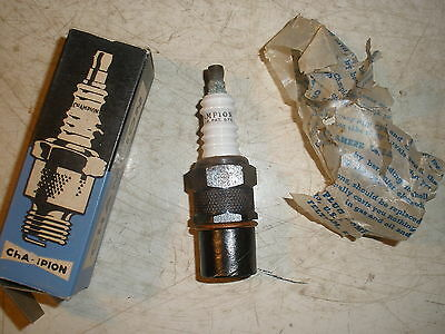 "Vintage NOS Champion ""H-16-A"" Spark Plug 18mm thread Gas Engine Collectible"