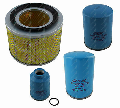 Oil Air Fuel Filter Service Kit Nissan Patrol GU 6Cyl Turbo Diesel TD42T 4.2L