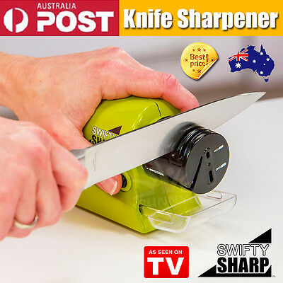 Electric Knife Sharpener Swifty Sharp -Multifunctional Cordless Motorised Knife
