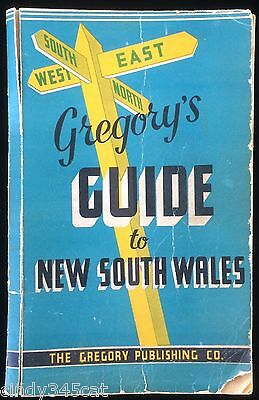 Gregory's Guide to New South Wales 1940s Railway Maps Country Hotels Mail Routes