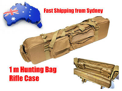 M249 Rifle Gun Bag Double M4 Case Hunting Shooting Backpack Carrying Padded Case