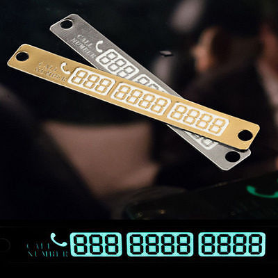 Car Styling Luminous Temporary Parking Card Phone Number Card Plate KY