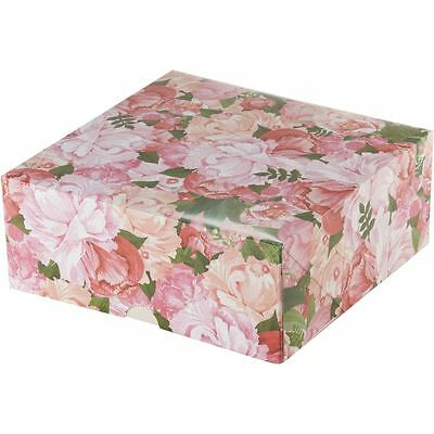 Floral Print Cake Box 10 Inches Wedding Birthday Party Holder Carrier Display