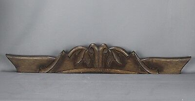 Antique French Carved Wood Pediment • CAD $112.14