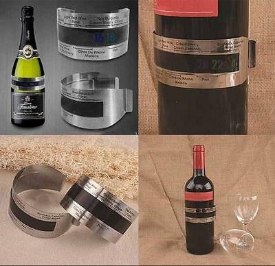 LCD Stainless Steel Wine Bracelet Thermometer red wine Beer temperature sensor