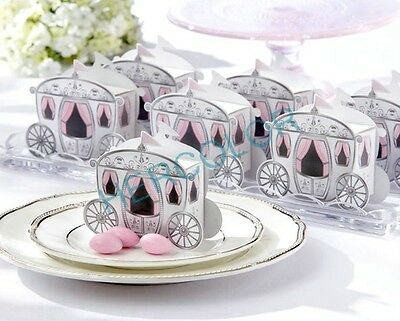 100X Mini Carriage Wedding Party Favor Candy Gift Boxes