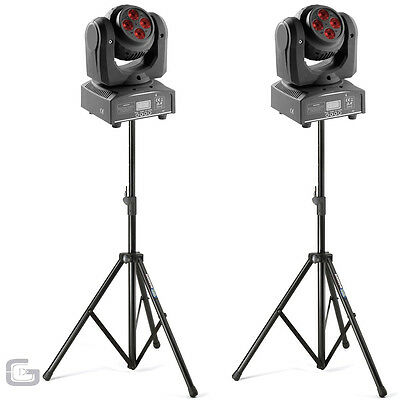 Gearooz FutureMove 360 80W RGBW Infinite Spin Wash Moving Head Pair & Stand Pack