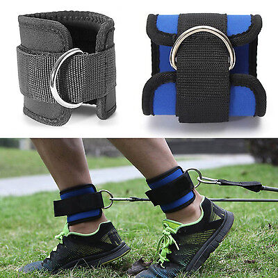 Ankle Strap D-ring Thigh Leg Pulley Gym Weight Lifting Sport Cable Attachment