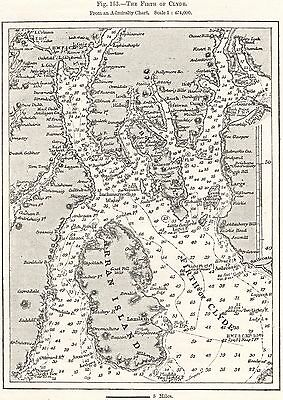 Antique Map, Scotland, The Firth Of Clyde, Admiralty Chart, 1878
