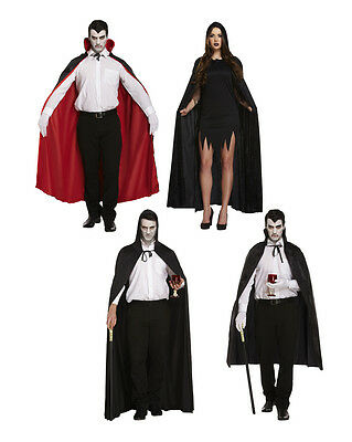 Deluxe Cape Halloween Vampire Fancy Dress Cloak Medieval Witchcraft Robe Costume
