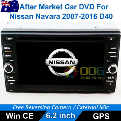 "6.2"" Car DVD GPS Navigation Head Unit Stereo For Nissan Navara 2007-2015 D40"