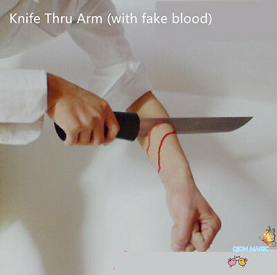 Knife thru arm (with monster blood) - magic trick,Illusion,horror,stage magic