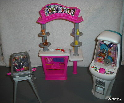 Furniture Playset Mattel Barbie Doll 2000 Play N Prize Arcade Game Room 958