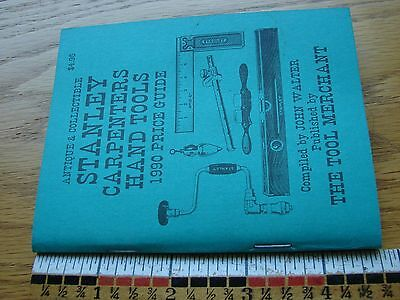 1990 Stanley Carpenters Hand Tools Price Guide