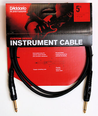 Planet Waves Pw-G-05 - 5 Foot Custom Series Instrument Cable  New!