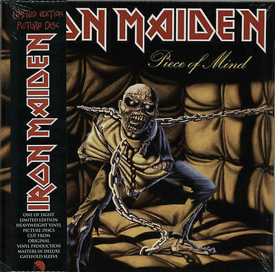 Iron Maiden Piece Of Mind Vinile Lp 180 Grammi Picture Disc Nuovo