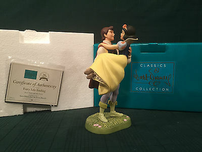 "WDCC Snow White and Prince ""Fairytale Ending"" NIB"