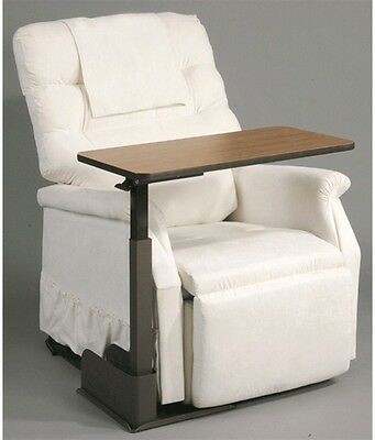 Rise and Recline Chair Mobility Over Chair Table Left Arm Chair Pivots 360°New