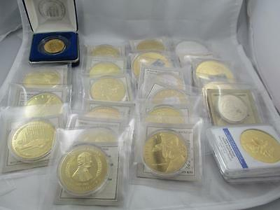 HUGE lot of Gold & Silver Plated American Mint Commemoratives, PK1