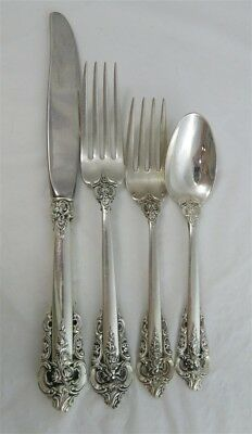 Estate Wallace Grande Baroque Sterling Silver 4 Piece Place Setting