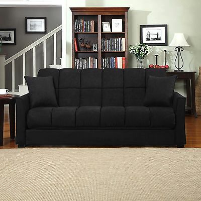 Convertible Sofa Bed Microfiber Sleeper Couch Living Room