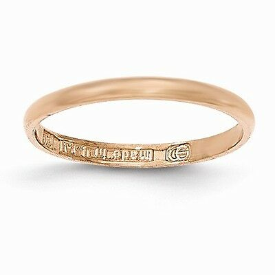14K Rose Gold Polished Child's Ring