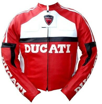 Men Motorcycle Red Color motorbike racing leather jacket All Sizes available
