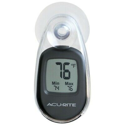 Acurite Indoor Outdoor Thermometer 00318A1 - Suction Cup - Black