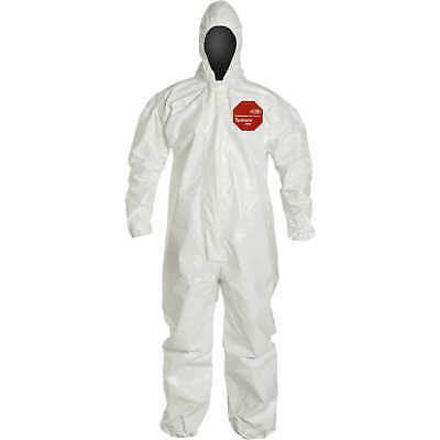 DuPont Tychem 4000 Superior Protection Coveralls, with Hood, M