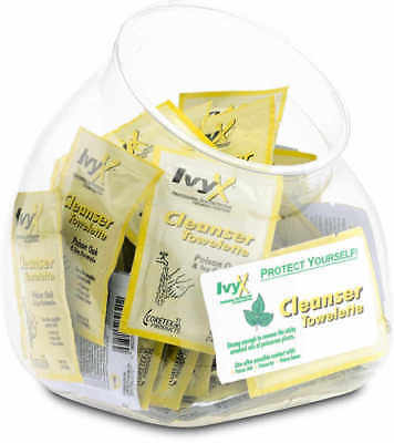 IvyX Post Contact Skin Cleanser Fish Bowl of 50 Towelettes