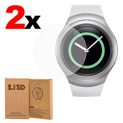 2x Tempered Glass Screen Protector Film For Samsung Galaxy Gear S2 Classic Watch