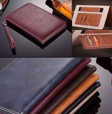 Genuine Soft Leather Smart Case Stand Magnetic Cover for Various Apple iPads