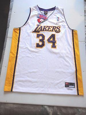21cfaa27f9d Authentic NBA Nike Shaquille O'Neal Los Angeles Lakers Jersey - White XL /  Tags