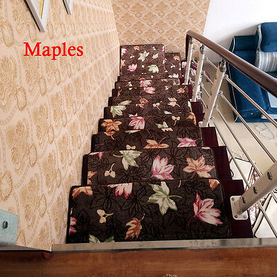 1/14/15/16/17/18pcs Stair Treads Rectangle Non-slip Carpet Stair Mats Rugs Pads
