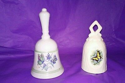 [[SALE]]Set Of 2/Ceramic Butterfly Bells