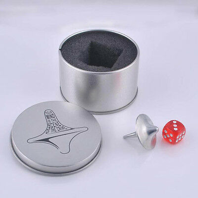 Inception Totem Print Metal Gyro Great Accurate Silver Spinning Top Toy Funny CN