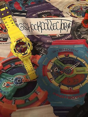 Casio G Shock Hyper Yellow & Purple Lakers Ga-110A-9 Limited Edition